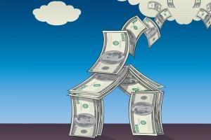 house-money-flying-away