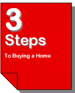 3 Steps to Buying A Home